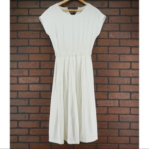 JOA White Midi Fit Flare Dress Size Small